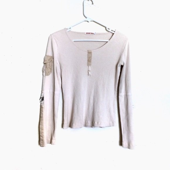 Johnny Was Tops - Johnny Was Beige/Cream Thermal Long-Sleeve